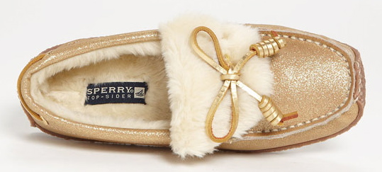 Sperry Slipper Gold