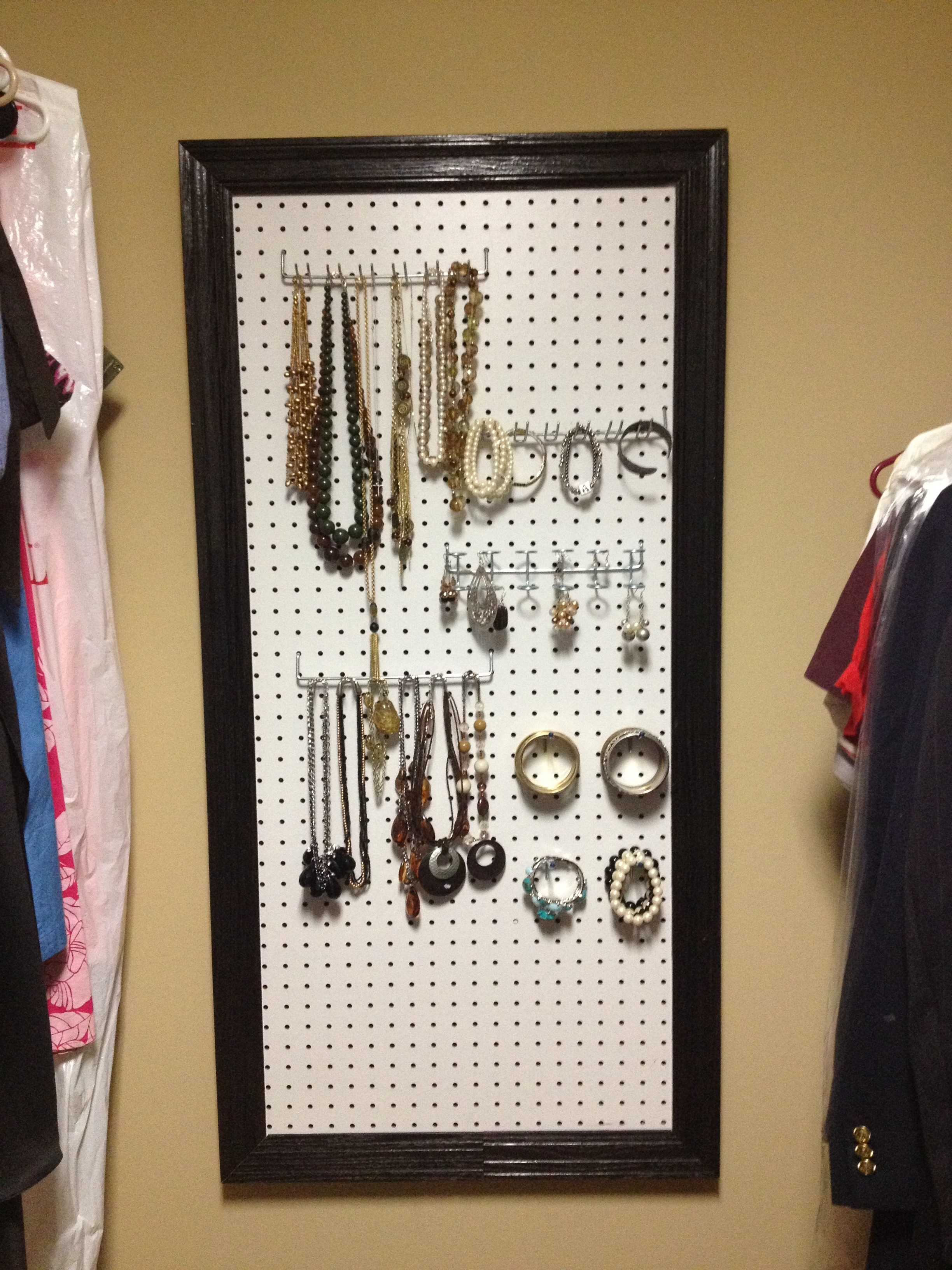 DIY Pegboard Jewelry Organizer Mommys Me Time